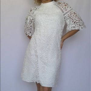 LAUNDRY by Shelly Segal, white cocktail dress!
